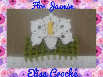 Barrado Flor em crochê # Elisa Crochê