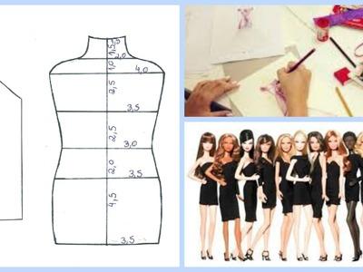 Como Criar Seus Próprios Vestidos para Barbie (Molde Base)