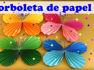 COMO FAZER BORBOLETA DE PAPEL MODELO 1