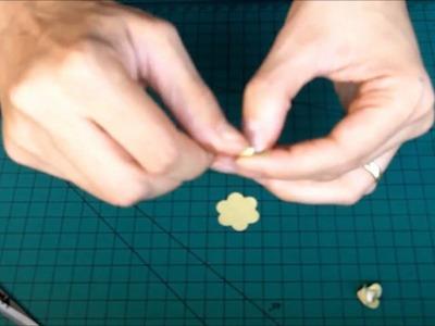 Como fazer mini-rosa com cortador de 5 pétalas