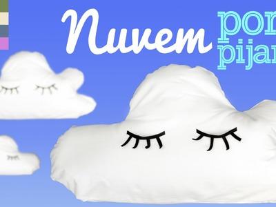 DIY- Almofada Nuvem Porta Pijama