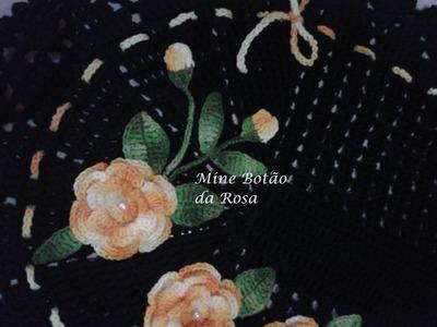 """Mine Botão da Rosa #Coleção """"Minhas flores em Crochê"""""""