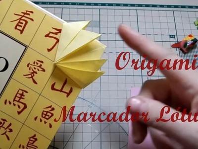 Origami marcador de página Lótus