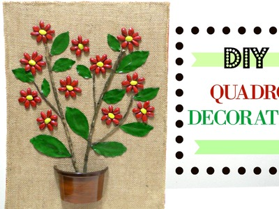 Quadro decorativo de flores - Artesanato DIY do Compartilhando Arte