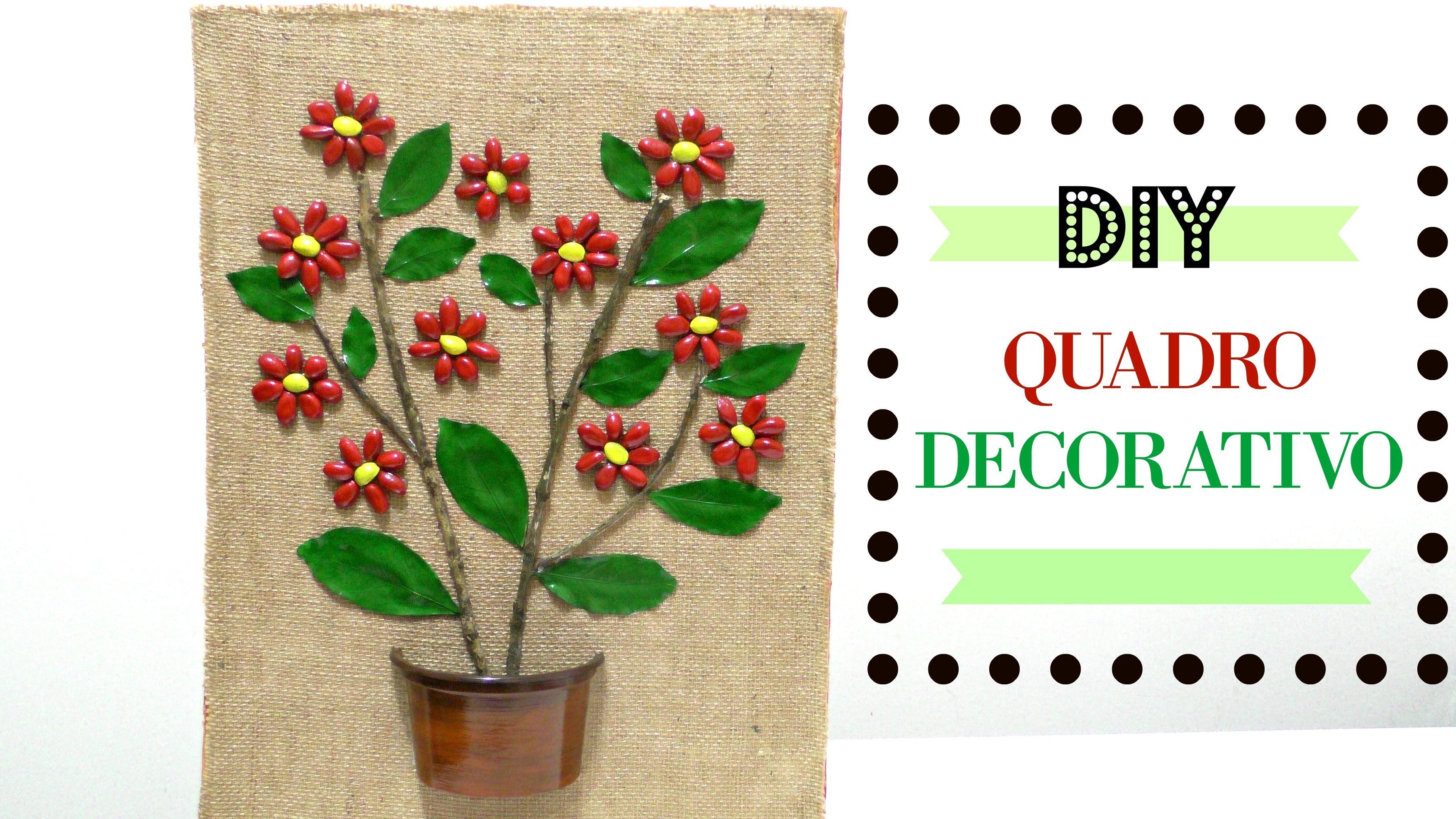 Quadro decorativo de flores - Artesanato DIY do Compartilhando Arte