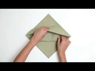 3 maneiras de dobrar  guardanapo