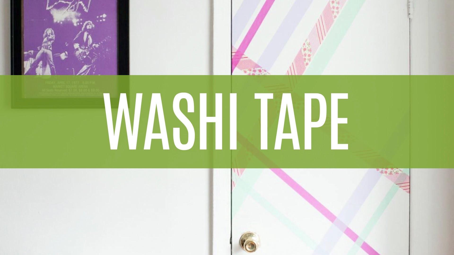 5 Formas de Usar Washi Tape na Decoração