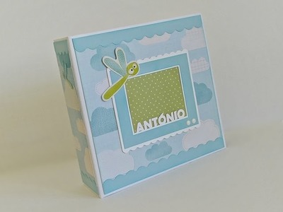 Album do Antonio - Scrapbooking Baby Boy Album