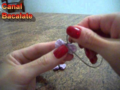 Artesanato Como fazer Mini BORBOLETA de FUXICO - DIY Mariposa - Activar Subtítulos