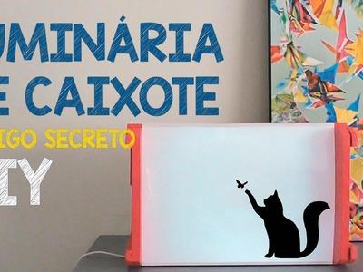 BACKLIGHT DE CAIXOTE . LUMINÁRIA LINDA - Amigo Secreto DIY
