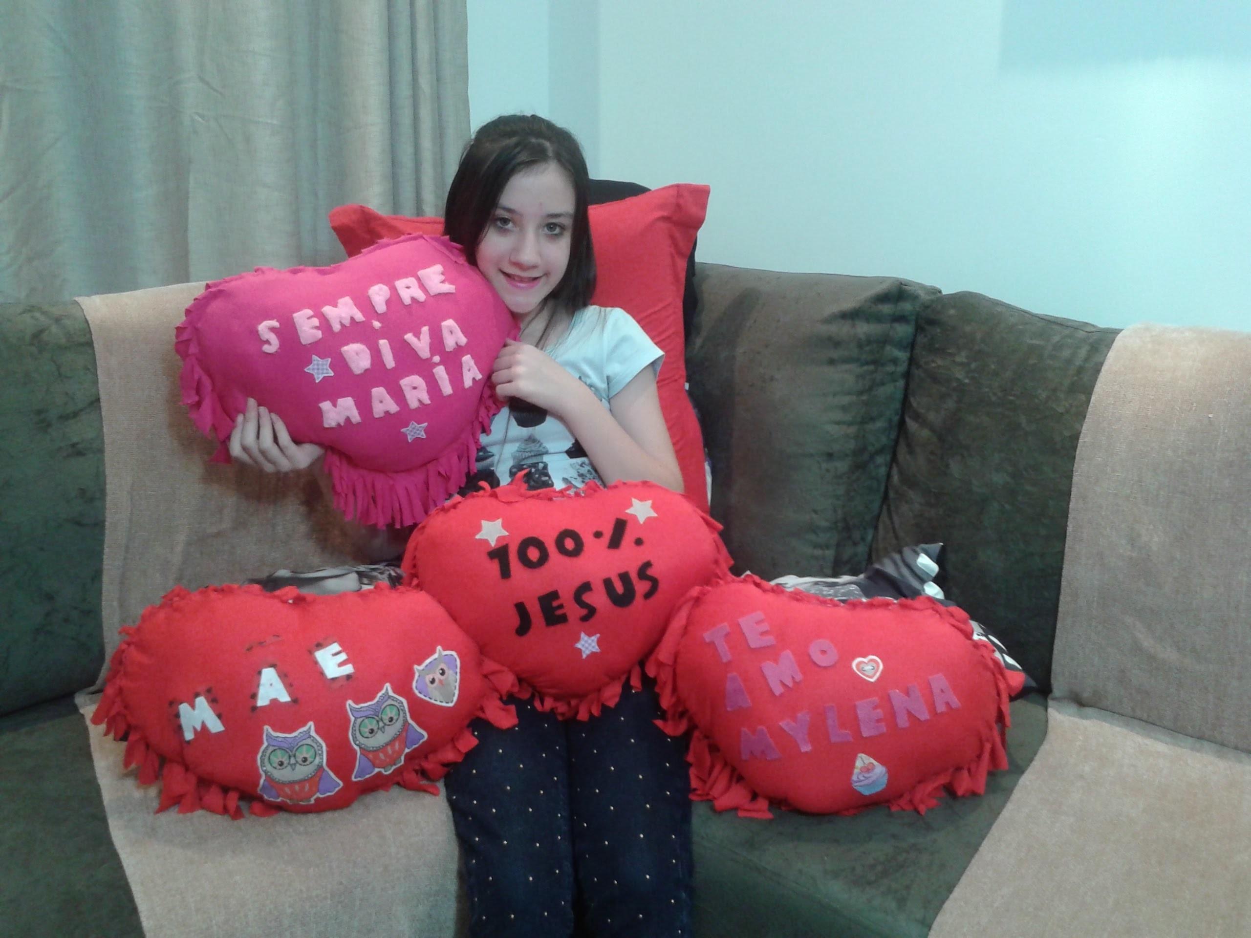 Como fazer almofada coração sem costura personalizada ainda ganhe  dinheiro !