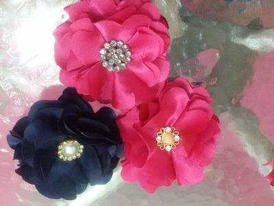Como fazer flor de cetim fácil e barata