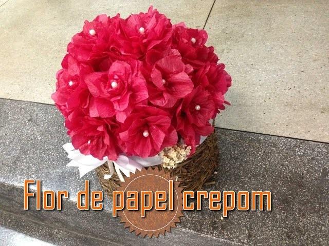 Como Fazer Flor De Papel Crepom Decoração