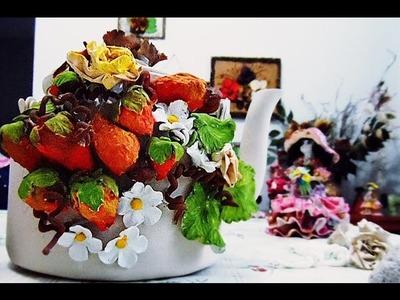 Como fazer frutas decorativas de papel reciclável