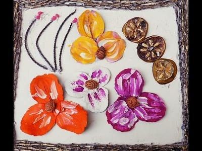Como fazer quadro artesanal com sementes