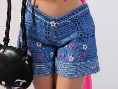 Como Fazer Short para Barbie e Outras Bonecas Semelhantes