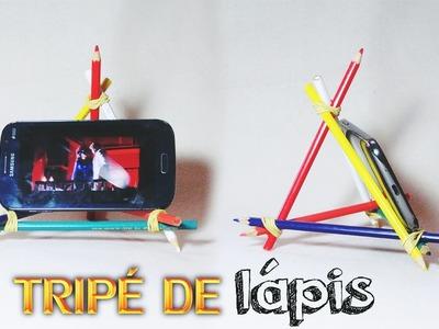 Como fazer Tripé de lápis para celular e tablet | Aprenda com Edu