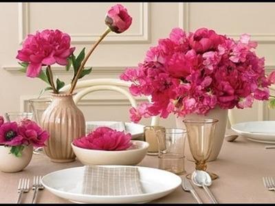Como fazer um arranjo de flores para a mesa gastando pouco