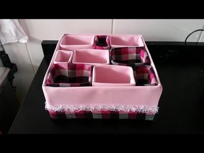 Como fazer uma caixa organizadora usando eva e caixas de leite, by Vivian Balaban DIY