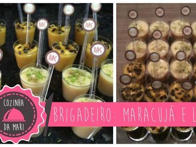Cozinha da Mari: Brigadeiro no Copinho de Maracujá e Limão