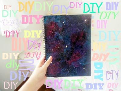 DIY| Caderno Personalizado Galaxy