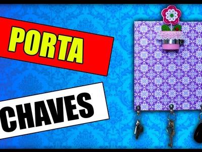 DIY| Chave Perdida Nunca Mais! PORTA CHAVES - Fácil, Barato e Lindo