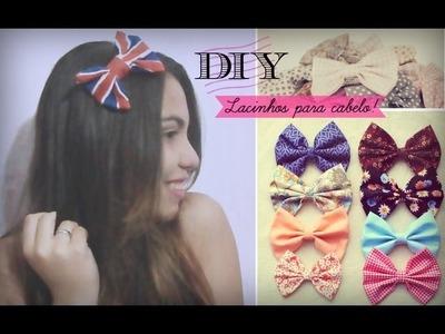 DIY | Faça você mesma: Lacinhos para o cabelo | Andressa Moraes