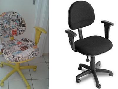 Faça você mesmo- Reformando cadeira de escritório