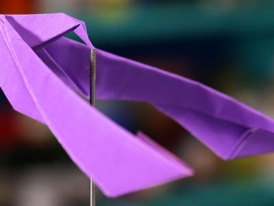Origami do pássaro que faz slackline