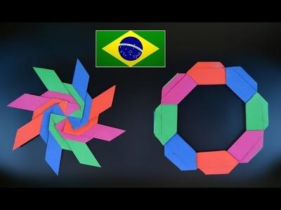 Origami: Frisbee Shuriken ( Jeremy Shafer ) - Instruções em português PT BR