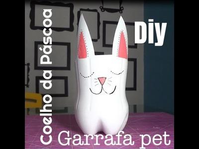 Coelho de Páscoa feito com Garrafa PET