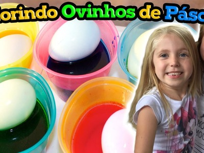 COLORING EASTER EGGS WITH STICKERS AND GLITTER - Pintando Ovos de Páscoa