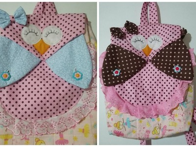 Como fazer mochila infantil de coruja (how to make a backpack)