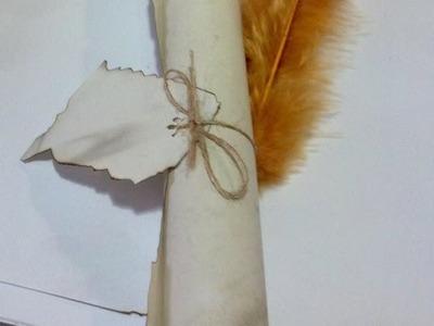 Como fazer pergaminho envelhecido com caneta de pena