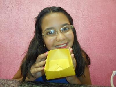 Como fazer uma caixinha - Origami - DIY