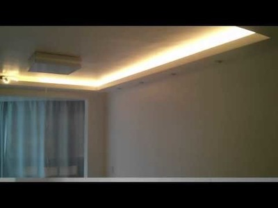 Como Instalar Led na Sanca - Sala de Estar - Iluminação com Luz Branco Quente e Branco Frio