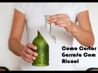 CORTANDO GARRAFA DE VIDRO COM BARBANTE - FAZENDO UM BELO COPO PARA FESTAS - EXPERIÊNCIAS