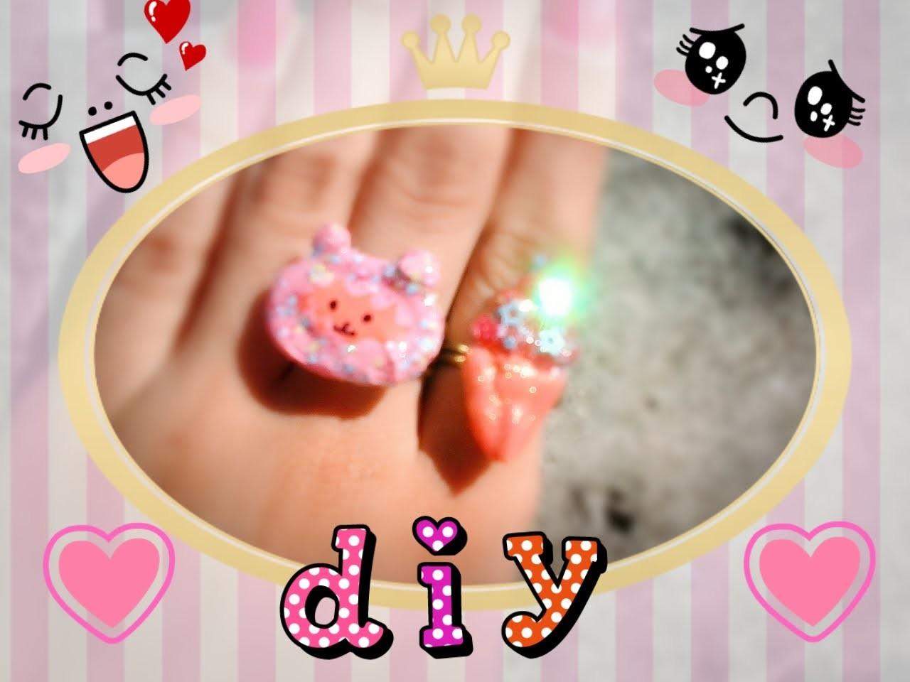 DIY Como fazer anéis-Lolita Kawaii Super Fácil