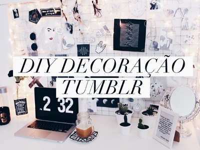 DIY. Decoração estilo Tumblr.Pinterest ( Mural de fotos, vasos e porta copo.bijus )