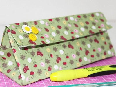 DIY - Estojo com Caixa de Suco ou Caixa de Leite -  Segredos de Aline