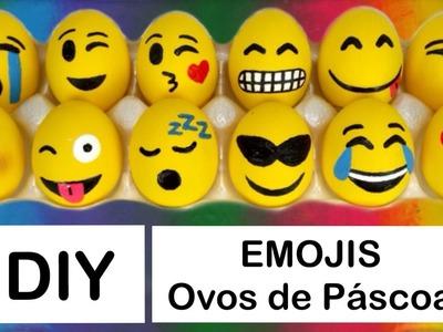 DIY Páscoa: Emojis Ovos de Galinha Recheados (Emojis Easter Eggs) | Vânia Maciel