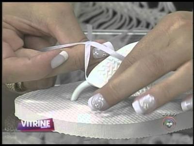 Karina Pereira apresenta chinelos bordados (16.12)