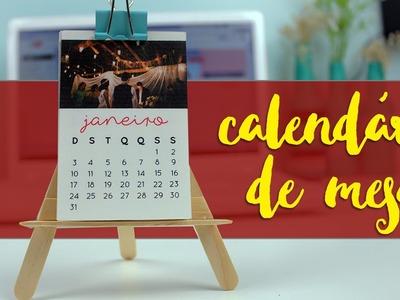 Mini calendário de mesa com fotos