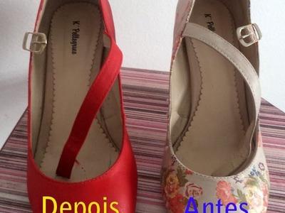 Pintando Arte com Teca Silvestre - Customização em sapato