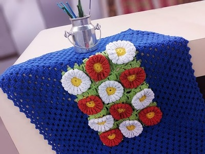 Programa Arte Brasil - 15.03.2016 - Marta Araujo - Painel de Flores em Crochê