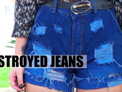 Short Jeans de Cintura Alta | Customização