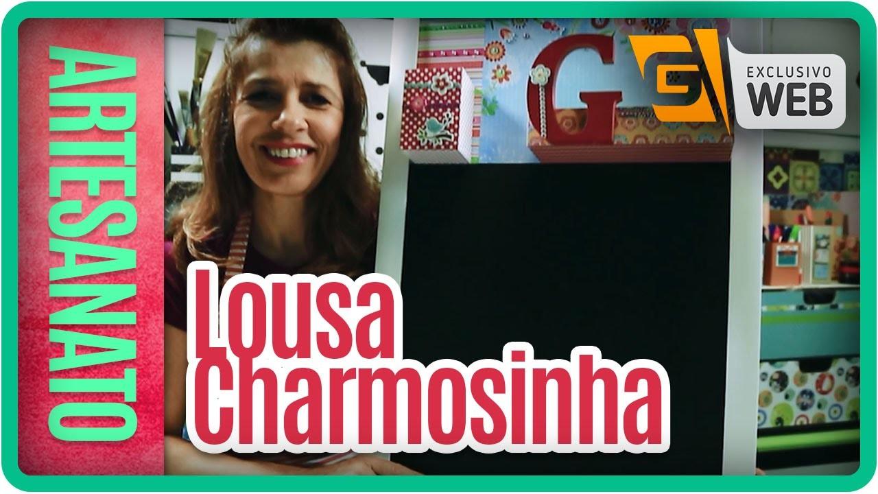 Artesanato na Web: Lousa Charmosinha (17.03.16)