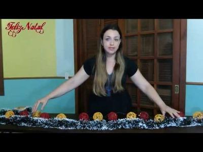Bolas de lã artesanal - Decoração Natalina