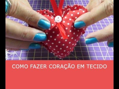 Como fazer coração de tecido