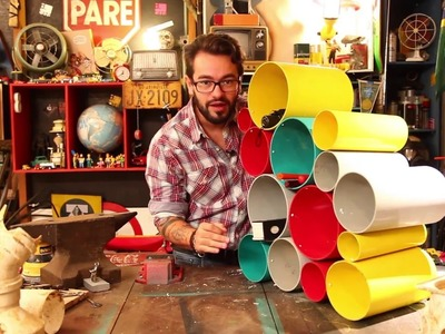 Como fazer nichos com tubos de pvc.